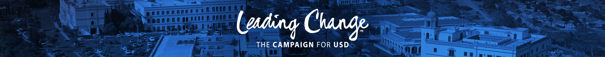 USD Leading Change Campaign Banner