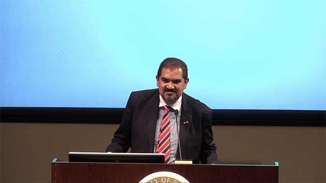 Photo of the presentation: From NAFTA to USMCA: Evolution of the Trade Relationship between Mexico and the US