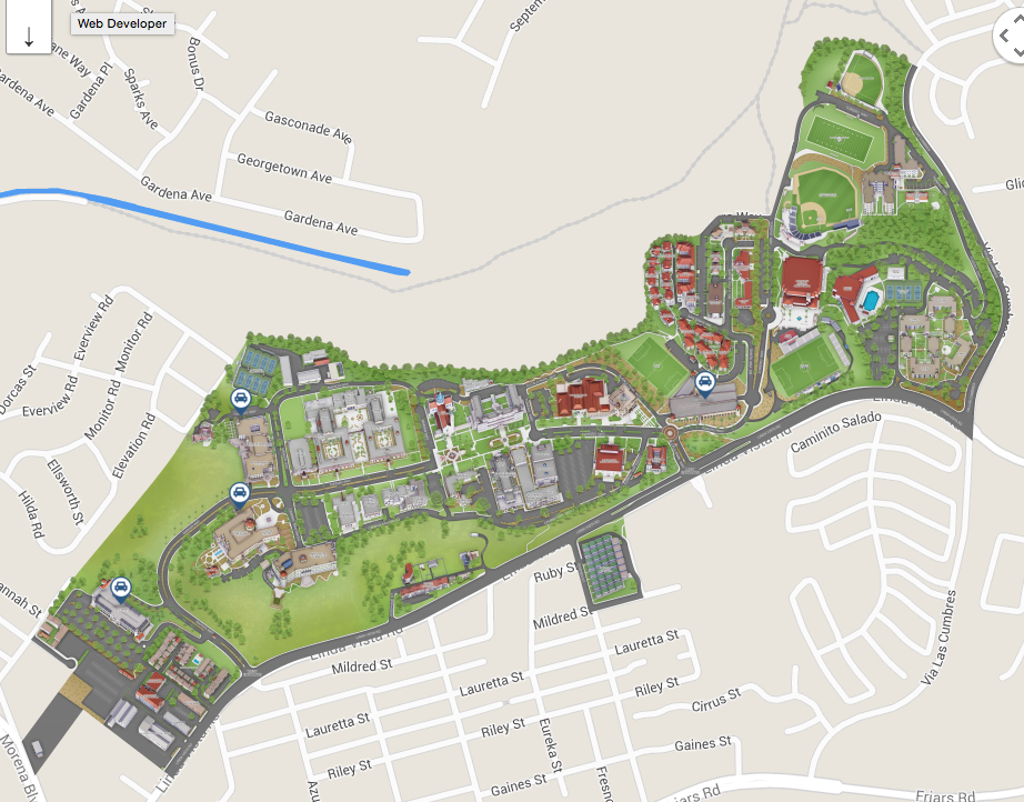 Franciscan University Campus Map.Parking And Directions Career Development Center University Of