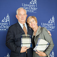 Michael J. Weaver, '73 (JD) and Hon. Louisa S Porter, '77 (JD)