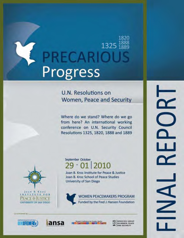 Precarious Progress: U.N. Resolutions on Women, Peace and Security