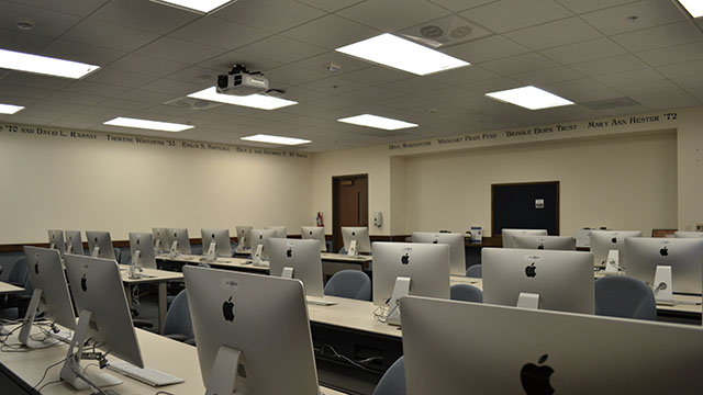 a MAC computer lab in Mother Rosalie Hall