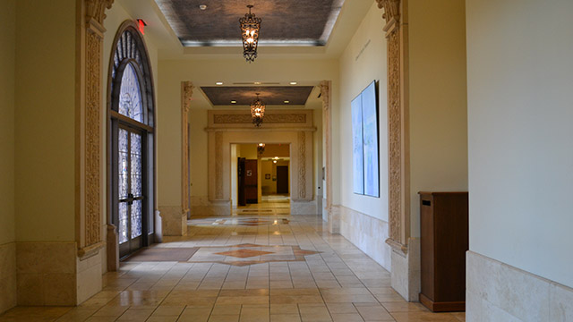 the reception hall Hilton Loggia in Mother Rosalie Hall