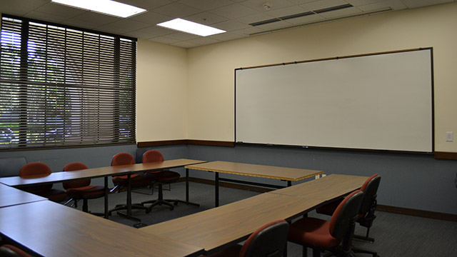 a seminar room in Mother Rosalie Hall