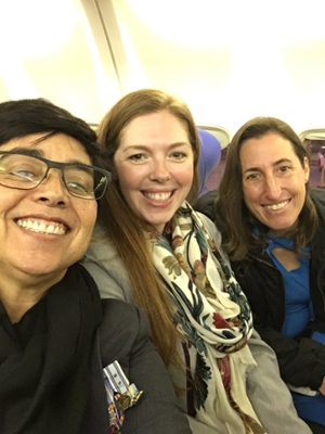 photo of three students going to Sacramento to pass bill 159