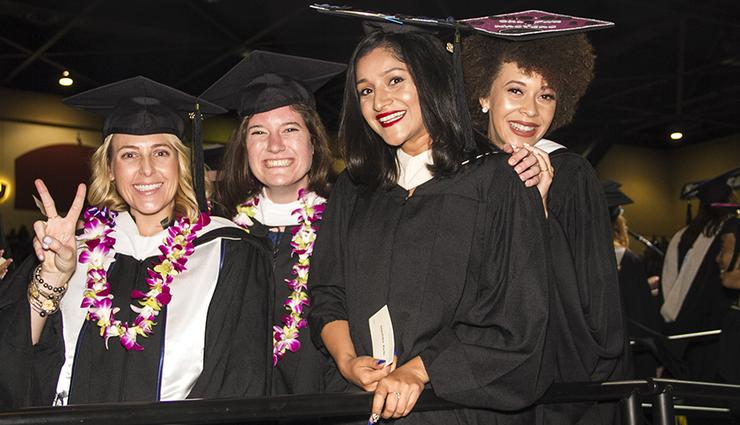 Carmen Knight, far right, was in the inaugural class of Joan B. Kroc School of Peace Studies' Master of Arts in Social Innovation in 2018.