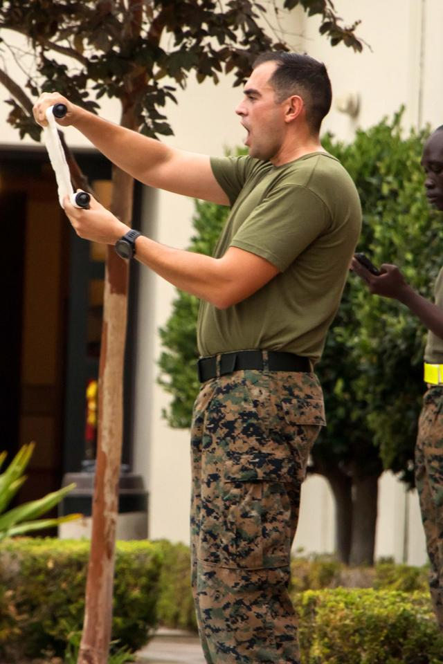 The traditional Marine's birthday greeting is read in recognition of the Marine's 243rd birthday.