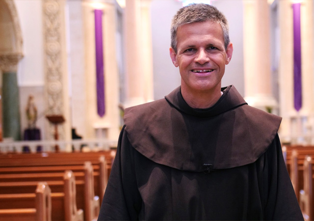 Father Garrett Galvin, OFM, the president and rector for the Franciscan School of Theology at USD