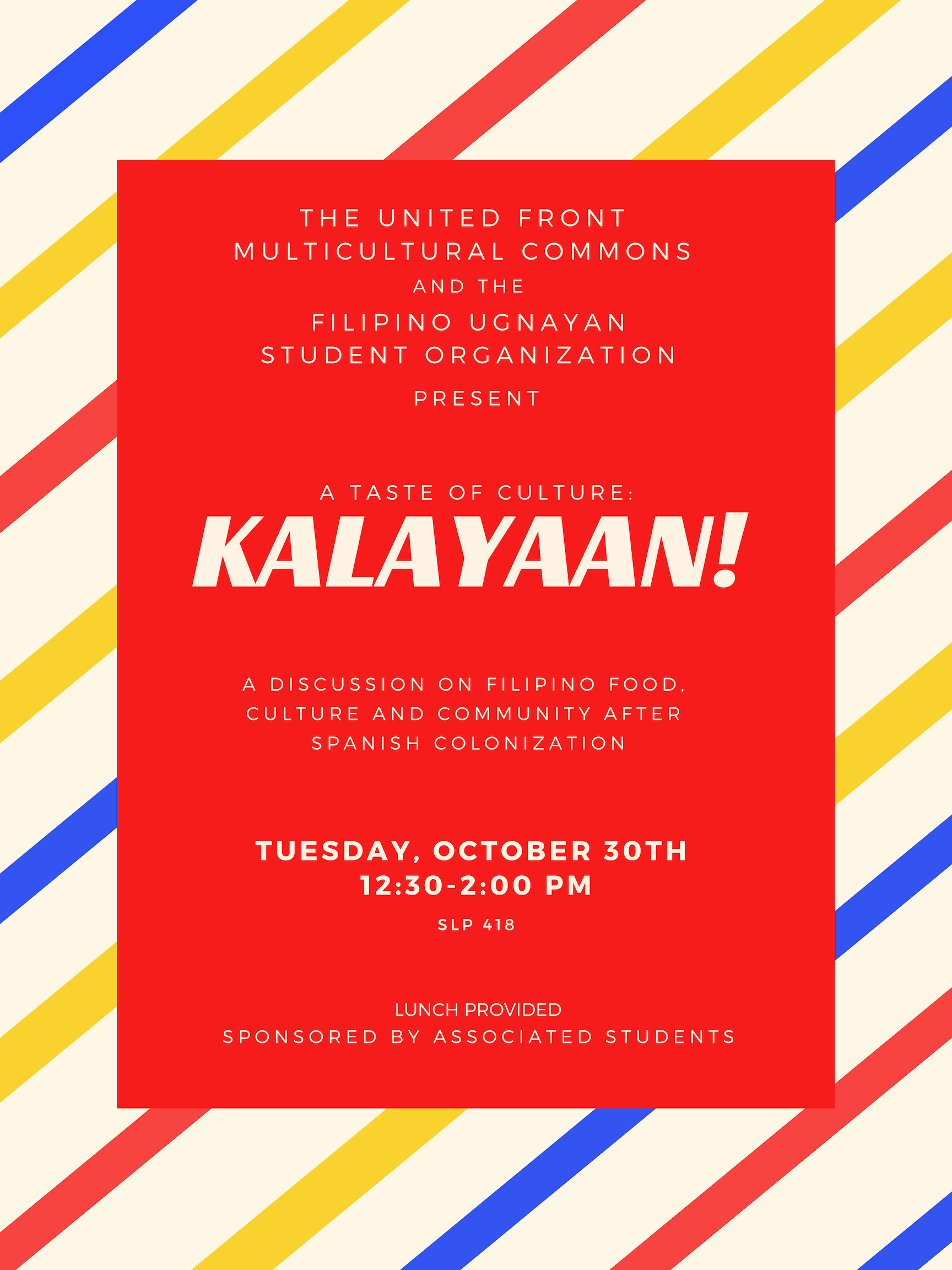 Flyer of A Taste of Culture: Kalayaan!