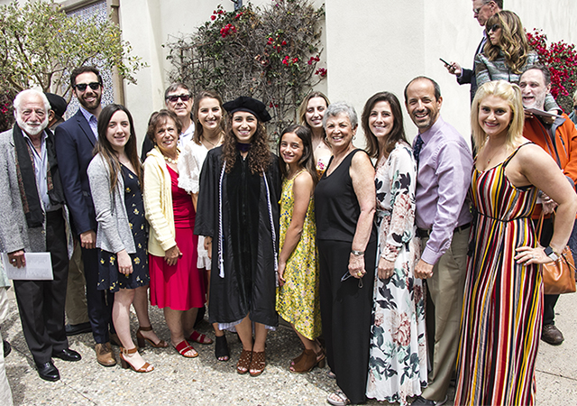 Juliana Mascari and family at 2019 School of Law Graduation