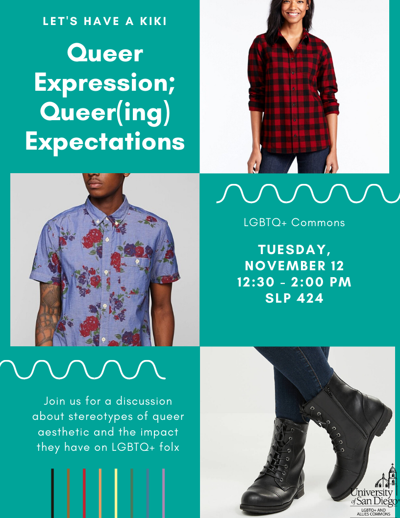 Let's Have A Kiki: Queer Expression; Queer(ing) Expectations event flyer