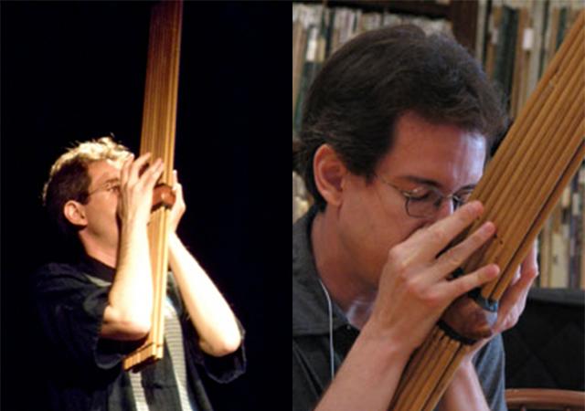 Christopher Adler playing the khaen