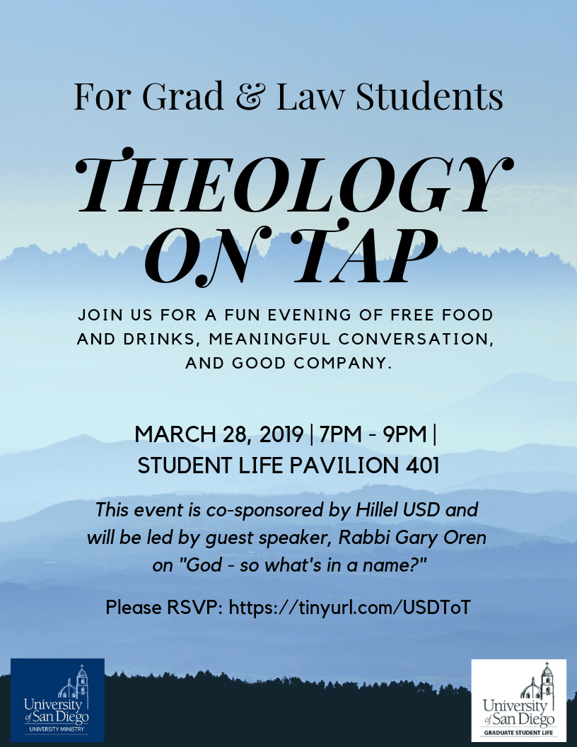 Flyer for Theology on Tap