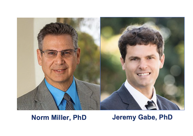 Photo is of Norm Miller, PhD and Jeremy Gabe, PhD