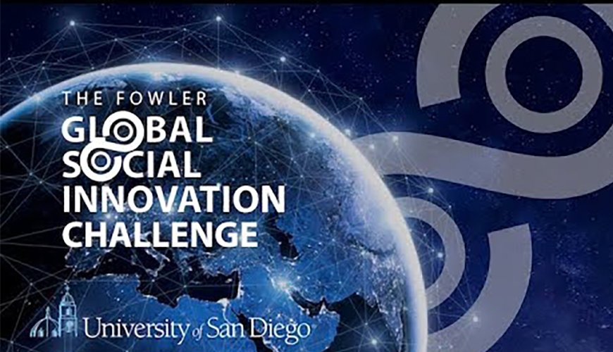 The USD Finals of the Fowler Global Social Innovation Challenge is Wednesday, April 29 at 5 p.m. Fifteen USD teams are vying for two spots in the global finals. Register to see this event on YouTube.