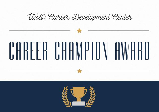 USD Career Development Center's Career Champion Award icon