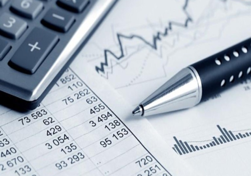 Pen on top of Financial Statistics