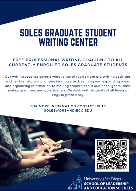 SOLES Graduate Writing Center flyer