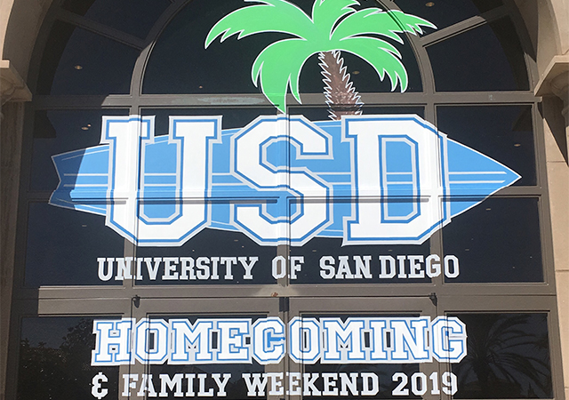 Homecoming and Family Weekend Logo at the SLP for 2019 HFW