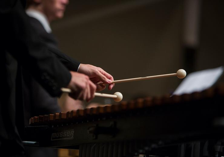 Photo of Student Playing Xylophone