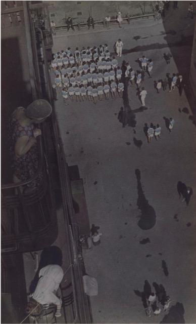 (Aleksandr Rodchenko, Assembling for a Demonstration 1928-30)