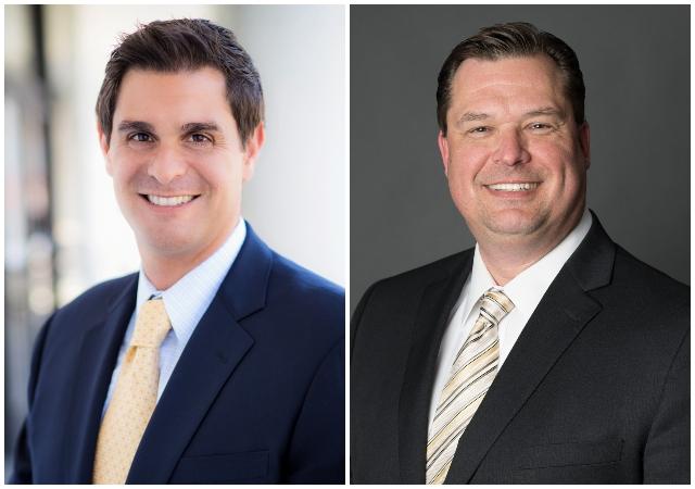 Ryan D. Saba, '97 (JD,) and Robert Karwin, '97 (JD).