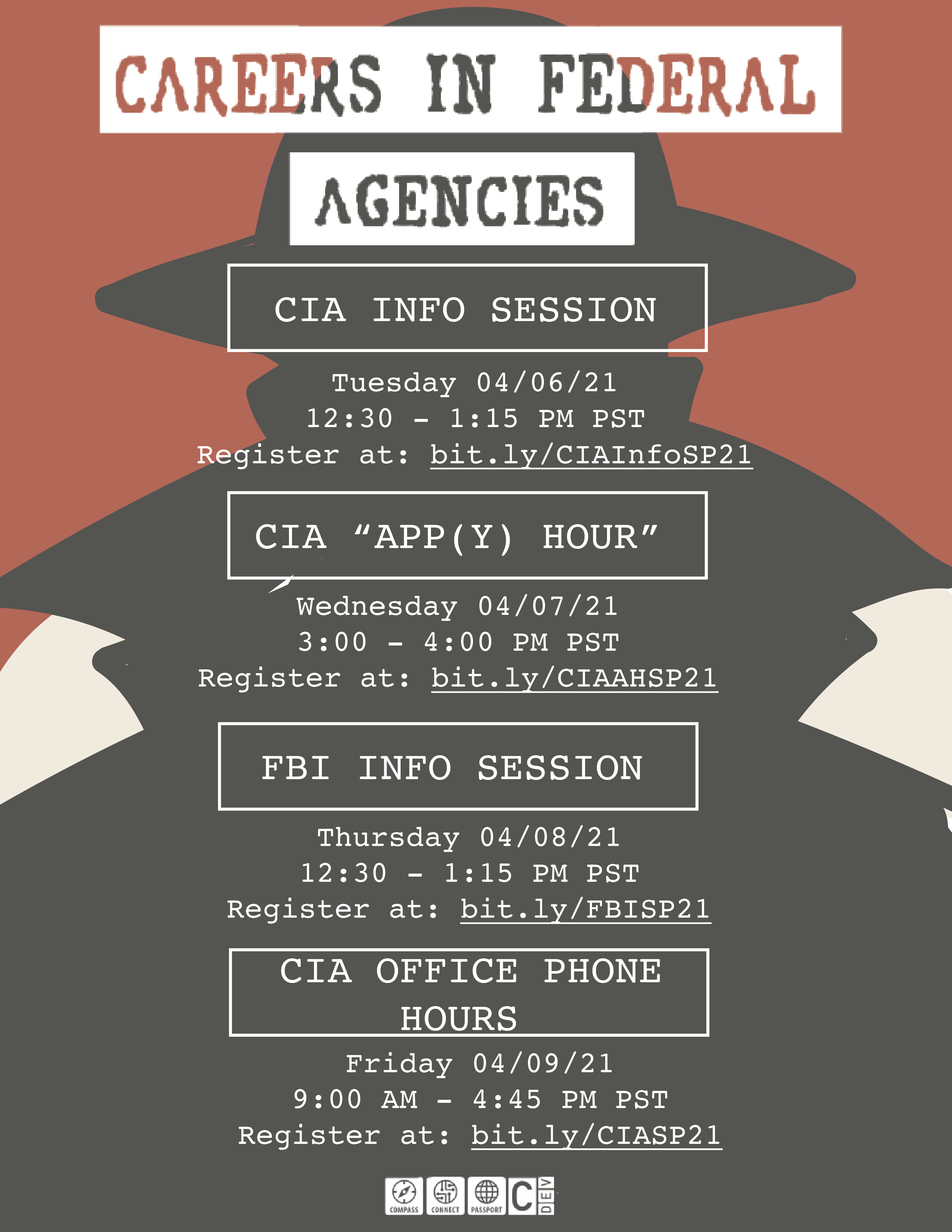 Careers in Federal Agencies Event Flyer
