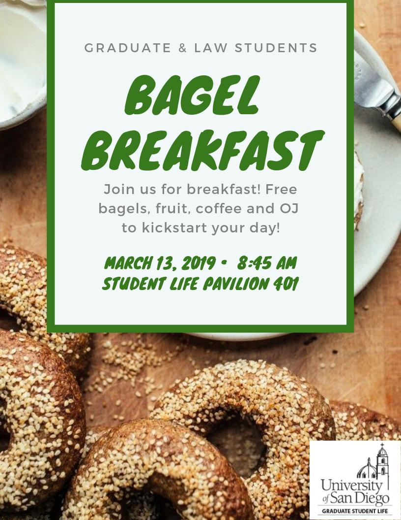 Flyer for Bagel Breakfast