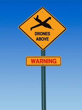 Drones Above Sign