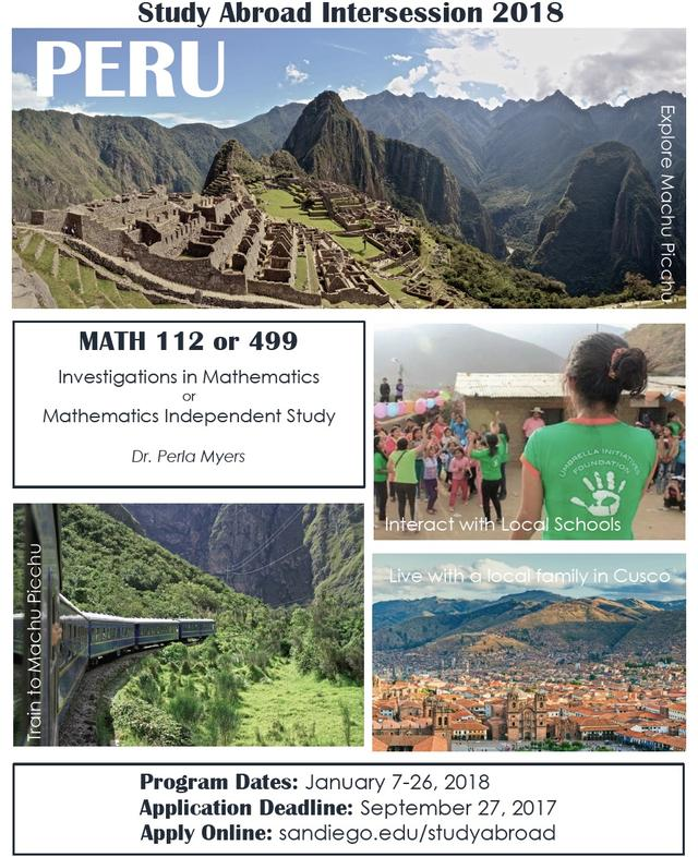 Pictures depicting locations in Peru
