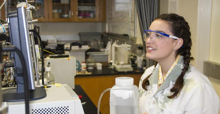 Chemistry major Alexia de Loera, who graduates on Sunday, has co-authored four published papers, done research in France and been doing summer research at USD since she was still in high school.