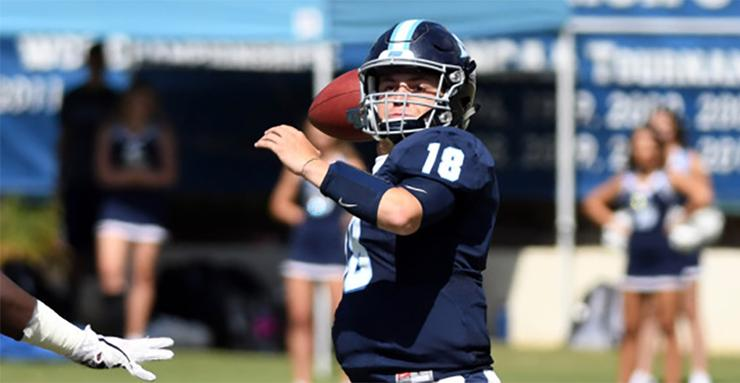 Senior quarterback Anthony Lawrence and his USD football teammates enter the 2018 season as the Pioneer Football League title favorite. The Toreros have won six of the last seven PFL titles.