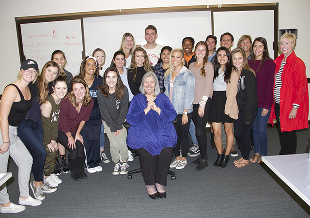 Darlene Marcos Shiley visits UG Nonprofit Leadership Class