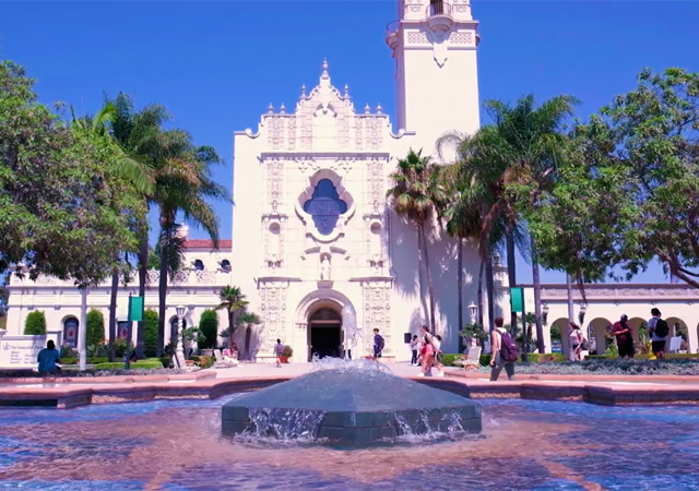 Fountain in front of the Immaculata