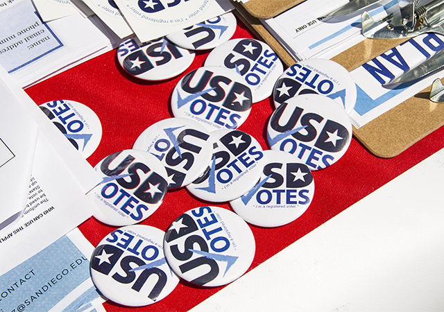 USD Votes helped get word out to students about registering to vote. The result was a major surge in USD voters in 2018.
