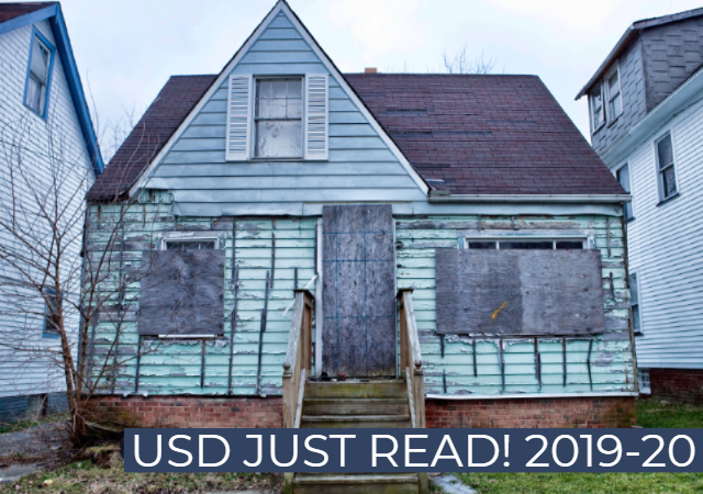 house with the words: USD Just Read! 2019 - 2020