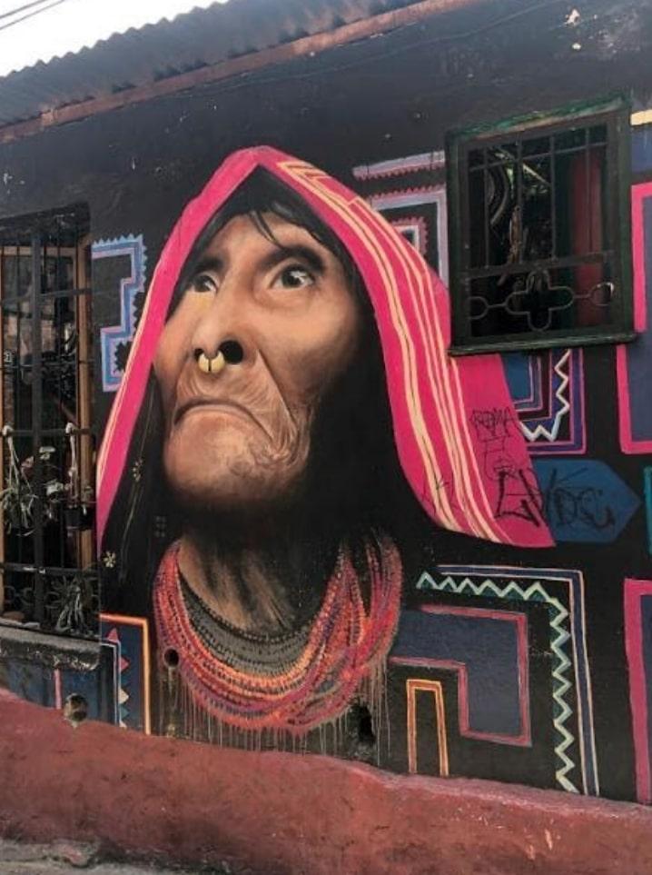 Mural in Bogota, Colombia