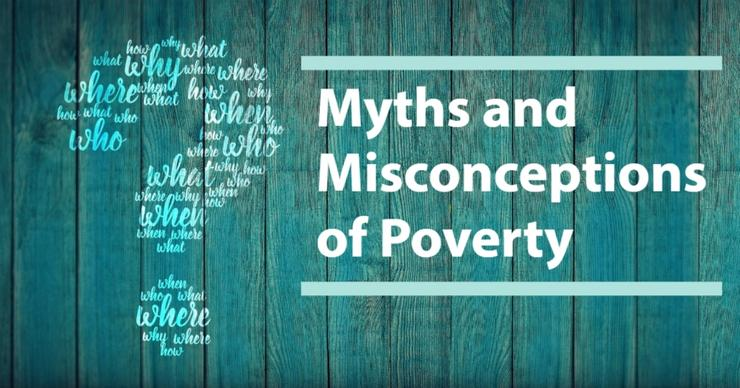 Question mark. Myths and Misconceptions of Poverty.