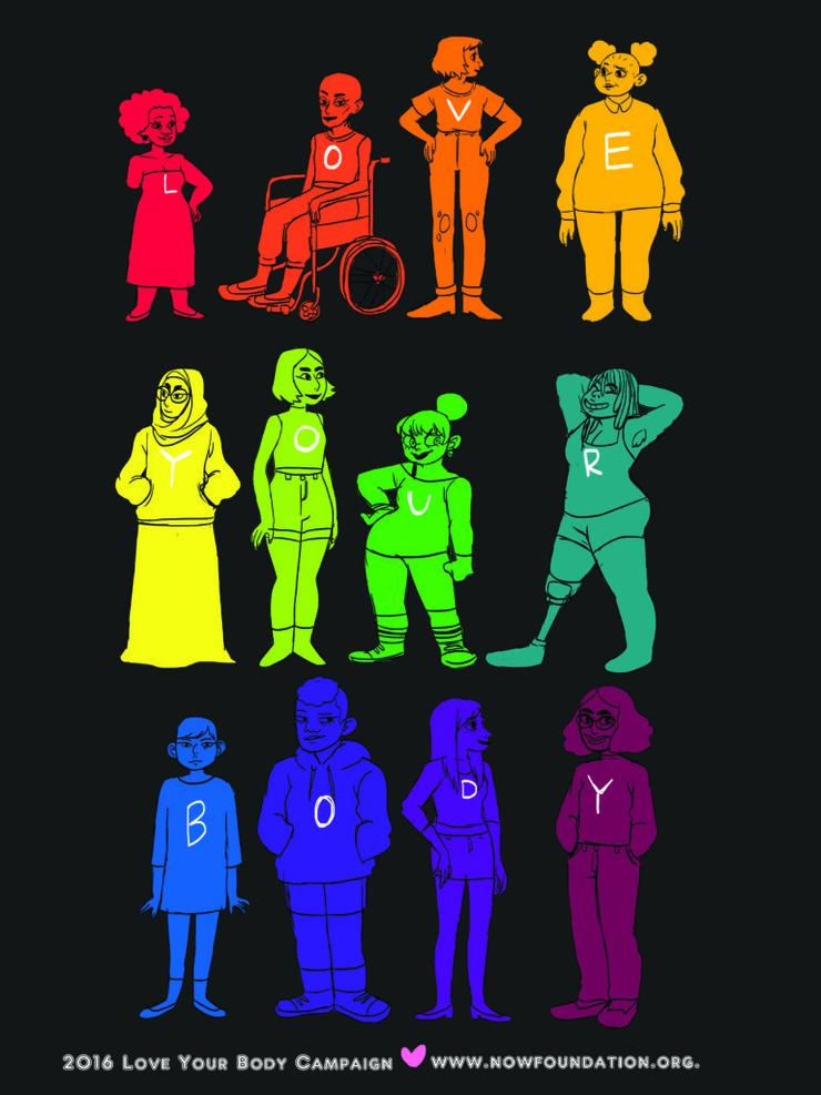 Multiple Body Types in Rainbow of Colors