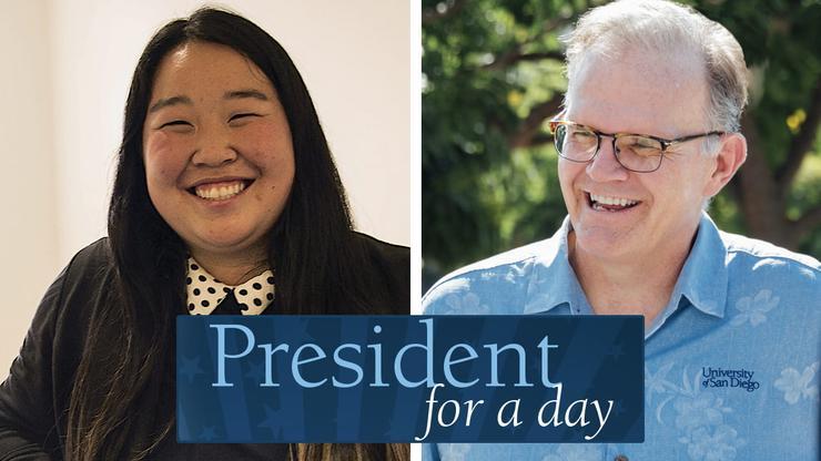 Tiffany Zhang and President Harris