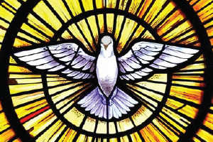 Holy Spirit portrayed as a dove