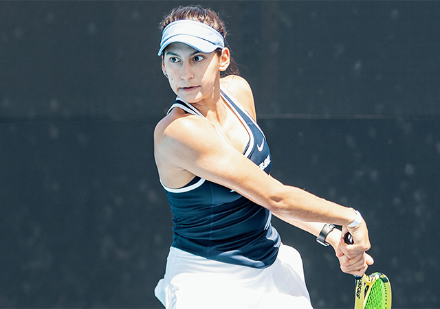 Photo of Solymar Colling, a member of the USD Women's Tennis team