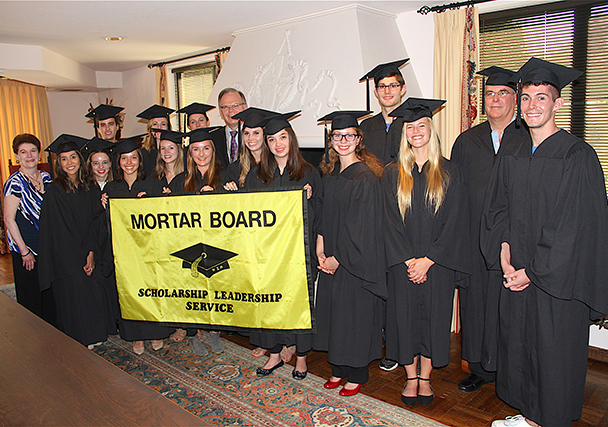 President Harris and Mortar Board