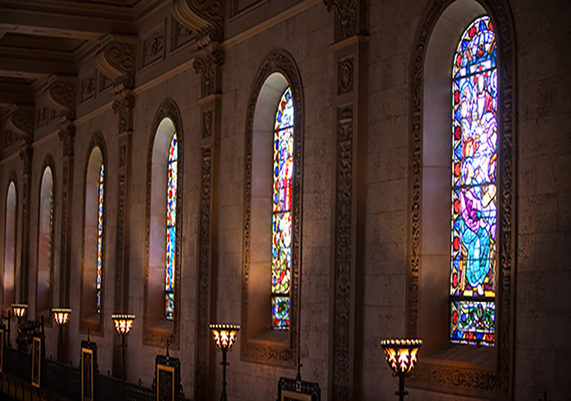 Chapel stained windows