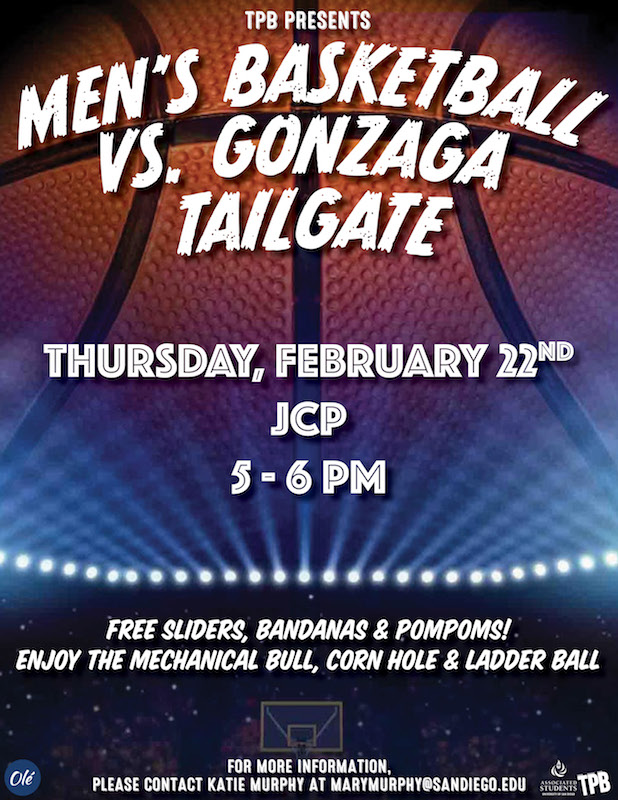 Men's Basketball vs Gonzaga