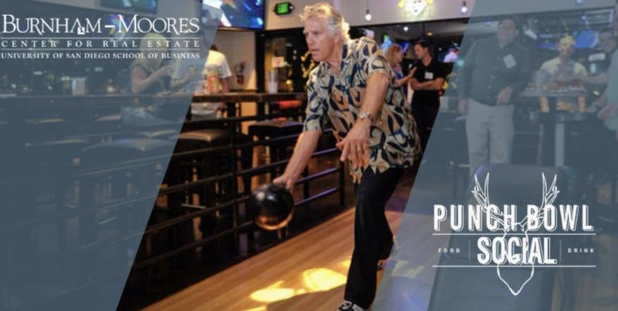 Image of bowling lane at bowling alley