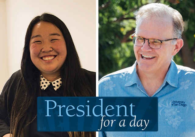 Tiffany Zhang and President Harris