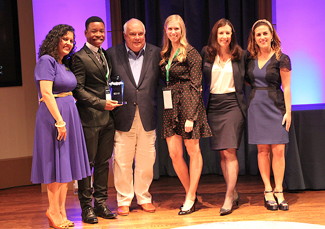 Fowler Business Concept Challenge winners, HUGS, by MBA students Carl Dumesle and Bria d'Amours.