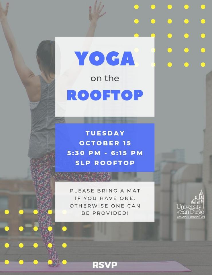 Yoga on the Rooftop on Oct 15 at 5:30pm at SLP Rooftop