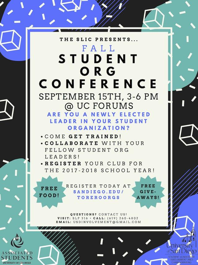 Fall 2017 Student Org. Conference